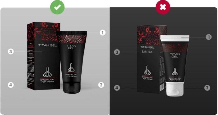 Как отличить оригинал Titan gel от подделки